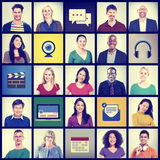 People Diversity Community Faces Multiethnic Group Concept Stock Photography