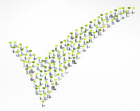 People Diversity Crowd Community Check Mark Approved Concept Stock Photography