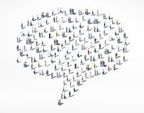 People Diversity Crowd Community Communication Speech Bubble Con Royalty Free Stock Photography