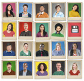 People Diversity Faces Human Face Portrait Community Concept Stock Photography