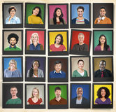 People Diversity Faces Human Face Portrait Community Concept Stock Images