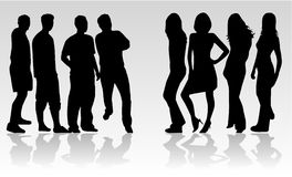 People are divided into groups Royalty Free Stock Photos