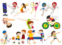 People do different types of sports Stock Photo