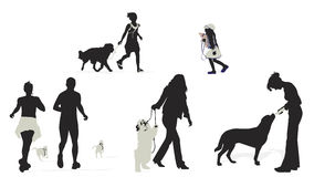 People and dogs Royalty Free Stock Image