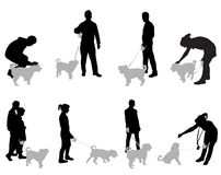 People with dogs Stock Images