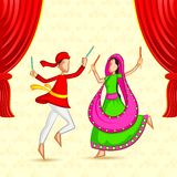 People doing Dandiya Stock Image