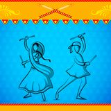 People doing Dandiya Royalty Free Stock Image