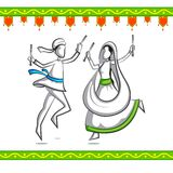 People doing Dandiya Royalty Free Stock Images