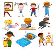 People doing different activities Stock Image