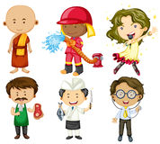 People doing different jobs Stock Image