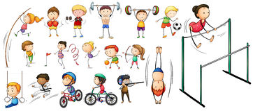 People doing different kinds of sports Royalty Free Stock Images