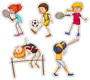 People doing different kinds of sports Stock Photos