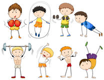 People doing different types of sports Stock Images