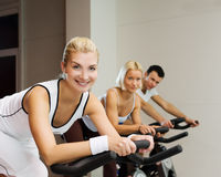 People doing exercise Stock Photography