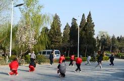 people doing exercises Stock Photo