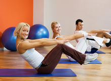 People doing fitness exercise royalty free stock photo