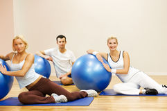 People doing fitness exercise Stock Photography
