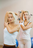 People doing fitness exercise Stock Photo