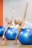 People doing fitness exercise Royalty Free Stock Image