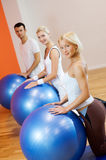 People doing fitness exercise Stock Image