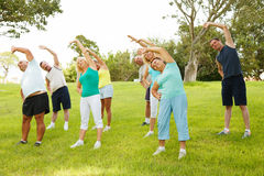 People doing flexibility exercises Royalty Free Stock Photos