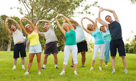 People doing flexibility exercises Royalty Free Stock Photography