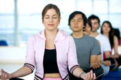 People doing meditation Stock Photos