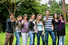 People doing an ok sign Royalty Free Stock Photo