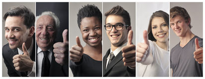 People doing ok sign Stock Photos