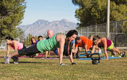 People Doing Push Ups Stock Image