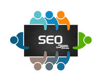 People Logo SEO Analysis Royalty Free Stock Photos