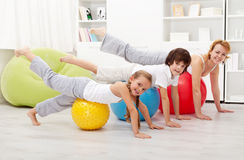 People doing stretching exercises Royalty Free Stock Images