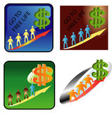 People  dollar sign Stock Photography
