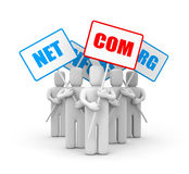 People and domain names Stock Images