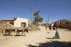 People and donkeys, Ethiopia Royalty Free Stock Images
