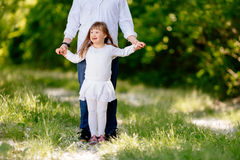 People with down sydrome walking in forest Stock Photography
