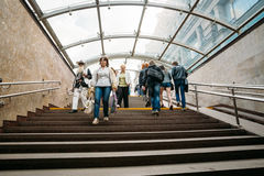 People down the underpass on Independence Avenue Royalty Free Stock Photos