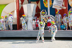 People dressed as a clown Stock Photography