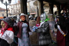 People dressed during Carnival of Limoux Stock Images