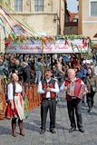 Easter market in Prague, Czech Republic. royalty free stock image
