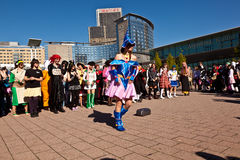 People dressed up as Mangas at Frankfurt's Book Fair Royalty Free Stock Images