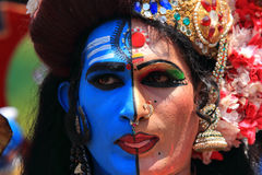 People dressed up as mythological characters Stock Photography