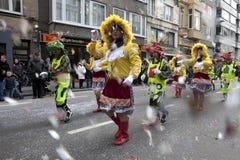 People dressed up, Belgium Royalty Free Stock Image