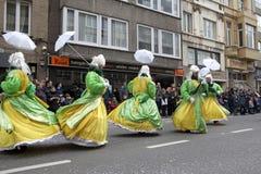 People dressed up, Belgium Stock Photo