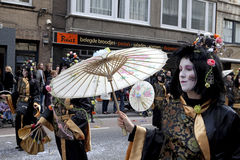People dressed up in costume, carnival, Ostend Stock Photo