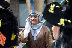 People dressed up in costume, carnival, Ostend Royalty Free Stock Photo