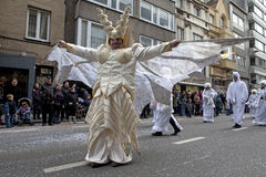 People dressed up in costume, carnival, Ostend Stock Photos