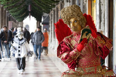 Venice Carnival. People dressed at the Venice Carnival royalty free stock photo