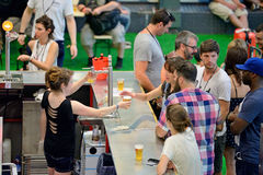 People drink at the bar at Sonar Festival Royalty Free Stock Photography