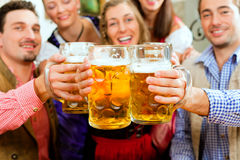 Free People Drinking Beer In Bavarian Pub Royalty Free Stock Photos - 16977378